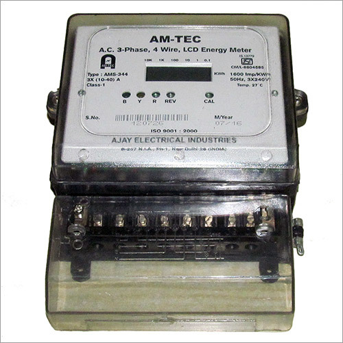 AC 3 Phase 4 Wire LCD Energy Meter