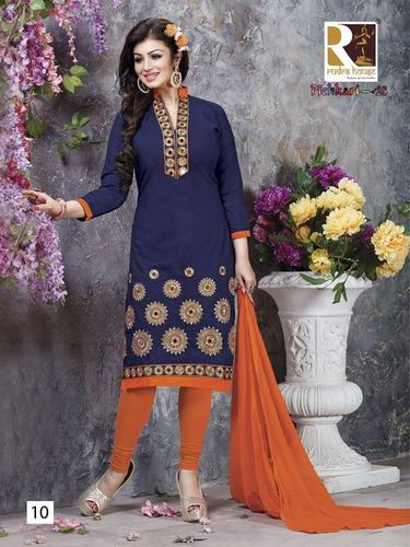 Latest Embroidery Cotton Salwar Kameez
