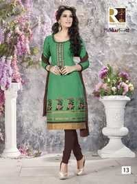 Casual Embroidery Cotton Salwar Kameez