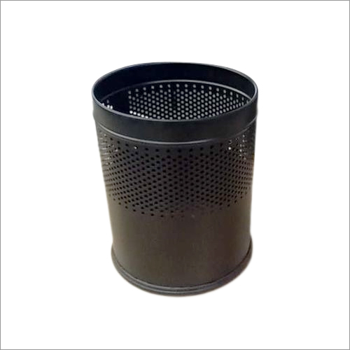 SS Black Perforated Bin