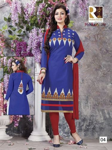 Pichkari Embroidery Cotton Dress Wholesale