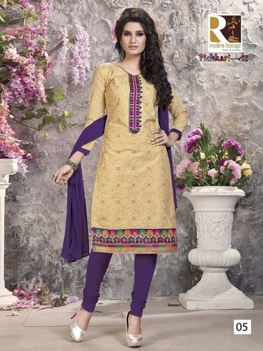 Pichkari Embroidery Cotton Salwar Suit Wholesale