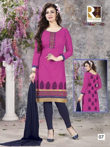 Embroidery Cotton Dress Materials Jetpur