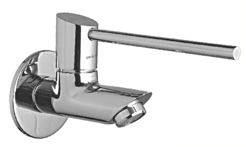 Long Body Bib Cock With Wall Flange