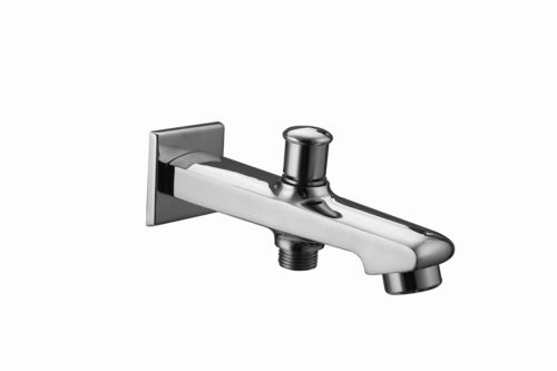 Brass Bath Tub Button Spout With Wall Flange
