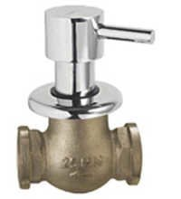 Brass Flush Cock Half Turn With Adjustable Flange