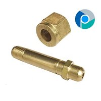 Brass Nipple With Check Nut