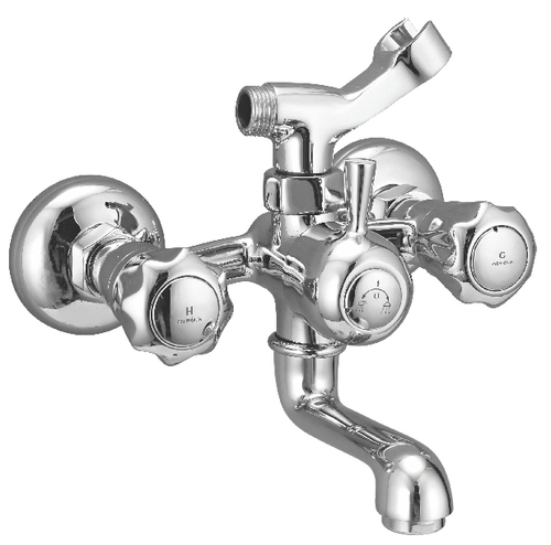 Brass Wall Mixer With Crutch Telephone Shower