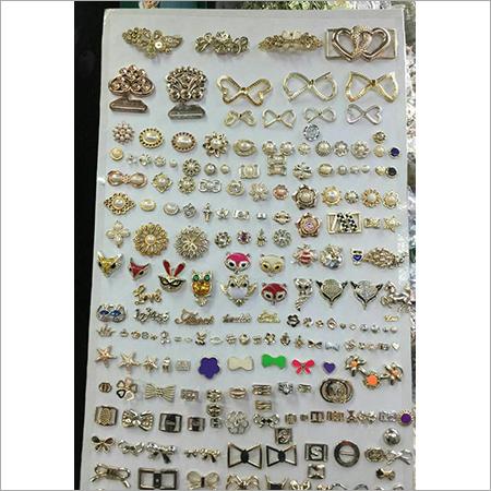 Button Items Golden Metallized Beads