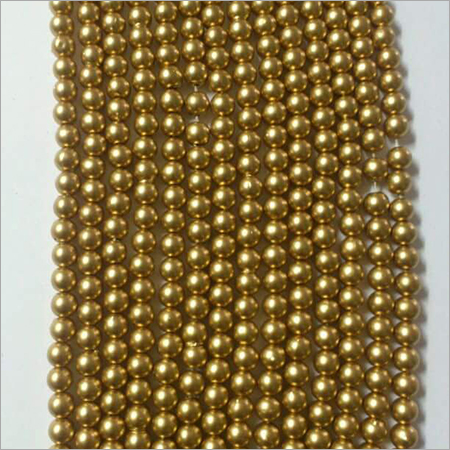 Dull Gold Pearl Beads