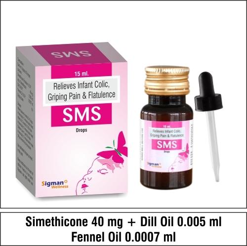 Simethicone 40 +Dill oil 0.005 + Femel Oil 0.0007