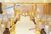 Elegant Wooden Carved Mandap