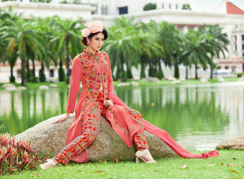 Green Latest Anrkali Suit