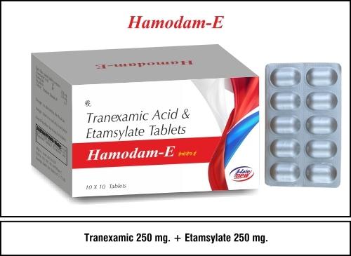 Etamsylate 250 mg. +  Tranexamic  250 mg.