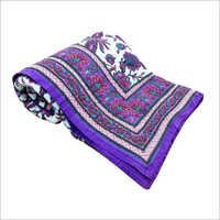 Purple Floral Double Bed Quilt