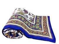 Blue Floral  Double Bed Quilt