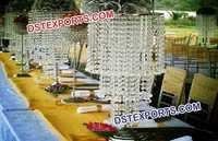 Modern Style Wedding Crystal Candlabra