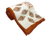 Cream Cotton Double Bed Quilt