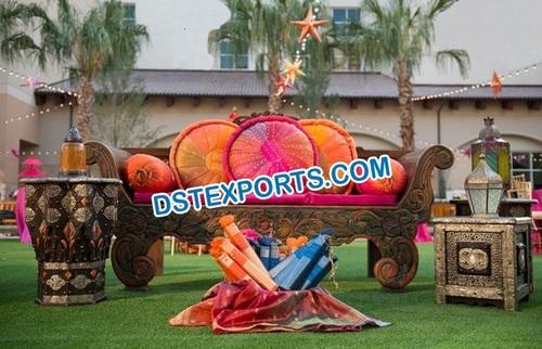 Punjabi Mehandi Stage Furniture Decorations