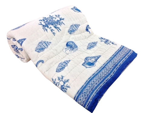Blue New Design Double Bed Quilt