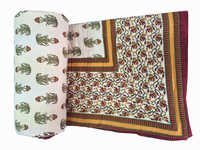 Printed Cotton  Double Bed Quilt