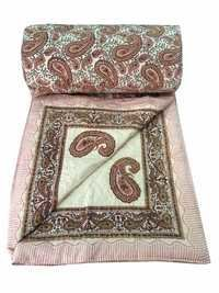 Brown ColourTraditional Double Bed Quilt