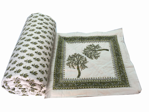 Tree Printed Double Bed Quilt