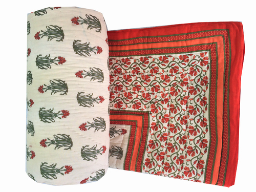 Traditional New Printed Double Bed Quilt