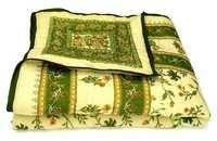 Green Printed Single Bed Quilt