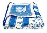Exclusive  Blue Printed Single Bed Quilt