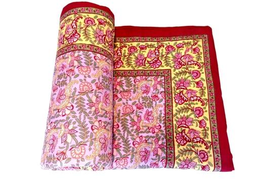 Buti Hand Block Print Cotton Single Bed Quilt