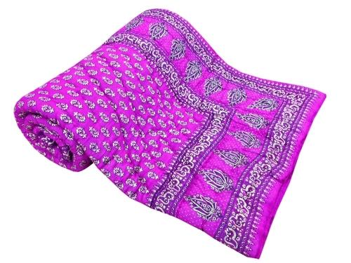 Dark Pink Single Bed Quilt