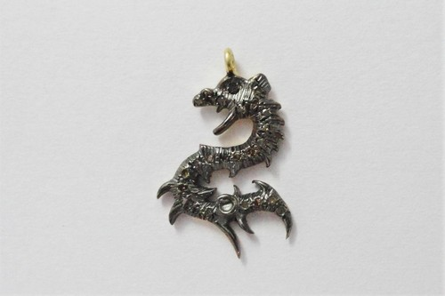 Dragon Charm Diamond Pave