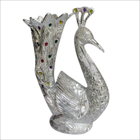 Metal Peacock pot