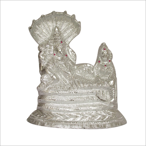 Metal Vishnu Laxmi Sleeping