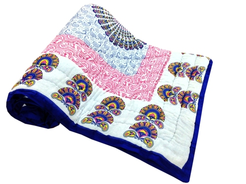 Flower Printed Single Bed Quilt