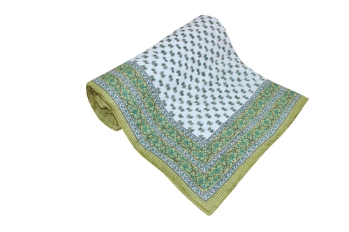 Light Green Single Bed Quilt