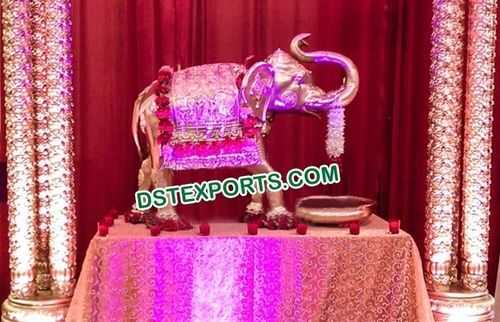 Indian Wedding Entrance Fiber Elephant Statue