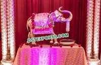 Indian Wedding Entrance Fiber Elephant Statue