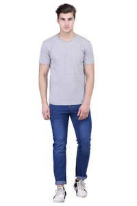 LONDON LOOKS DARK BLUE REGULAR FIT MEN JEANS