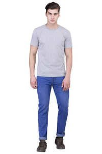 LONDON LOOKS LIGHT BLUE REGULAR FIT MEN JEANS