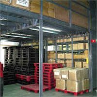Shelving Rack With Mezzanine Floor