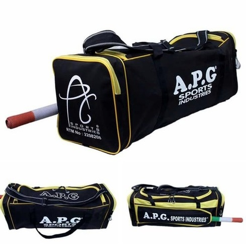APG Cricket Kit Bag (Black & Yellow)