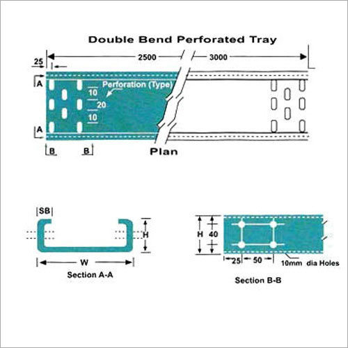Double Bend Perforated Cable Tray