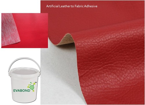 Artificial leather to fabric adhesive