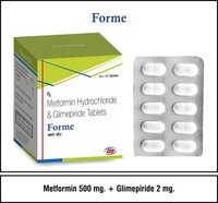 Metformin 500mg + Glimepiride 2mg