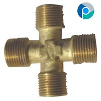 Brass Four Way Male Connectors