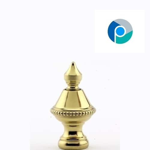 Brass Beaded Finial