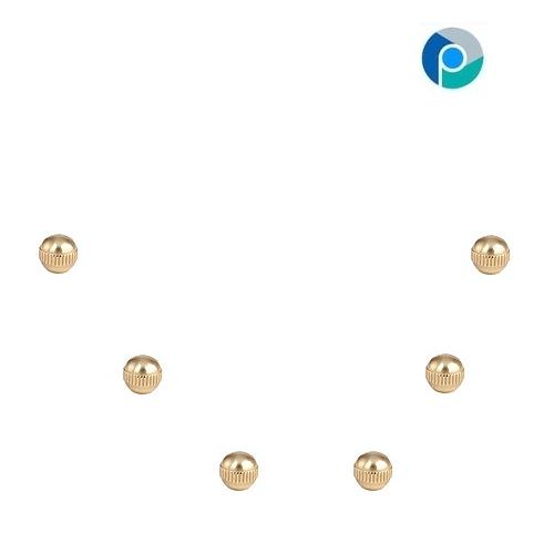 Brass Knurled Ball Tap