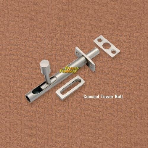Brass Concealed Tower Bolt
